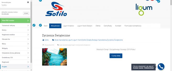 Prace modernizacyjne strony sotilo.pl